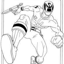 Coloriage d'un Ninja en pleine course - Coloriage - Coloriage DESSINS ANIMES - Coloriage POWER RANGERS - Coloriage NINJA POWER RANGERS