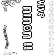 Ninon - Coloriage - Coloriage PRENOMS - Coloriage PRENOMS LETTRE N