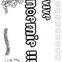 Noemie - Coloriage - Coloriage PRENOMS - Coloriage PRENOMS LETTRE N