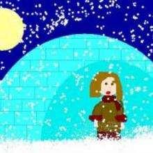 Nuit de neige - Dessin - Dessin PAYSAGES - Dessin PAYSAGES A COLORIER