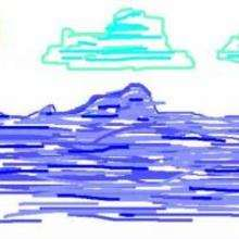 Océan Pacifique - Dessin - Dessin PAYSAGES - Dessin PAYSAGES A COLORIER