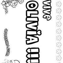 Olivia - Coloriage - Coloriage PRENOMS - Coloriage PRENOMS LETTRE O