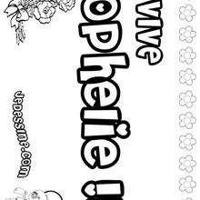 Ophelie - Coloriage - Coloriage PRENOMS - Coloriage PRENOMS LETTRE O