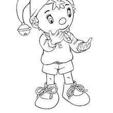 Coloriage de Oui-Oui qui compte sur ses doigts - Coloriage - Coloriage OUI-OUI - Colorier le personnage de OUI-OUI