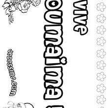 Oumaima - Coloriage - Coloriage PRENOMS - Coloriage PRENOMS LETTRE O