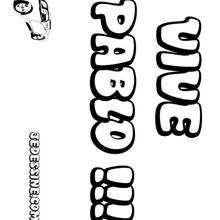 Pablo - Coloriage - Coloriage PRENOMS - Coloriage PRENOMS LETTRE P