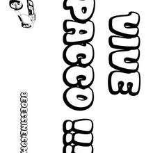 Pacco - Coloriage - Coloriage PRENOMS - Coloriage PRENOMS LETTRE P