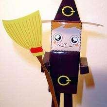 PaperToy Petite sorcière (moyen)