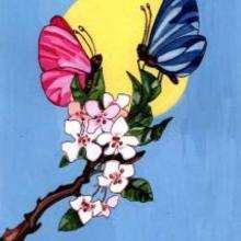 Dessin d'enfant : Papillon