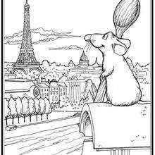 Coloriage Disney : Coloriage RATATOUILLE à imprimer