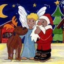 Dessin d'enfant : Noël approche