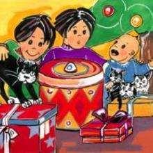 Dessin d'enfant : Plein de cadeaux!