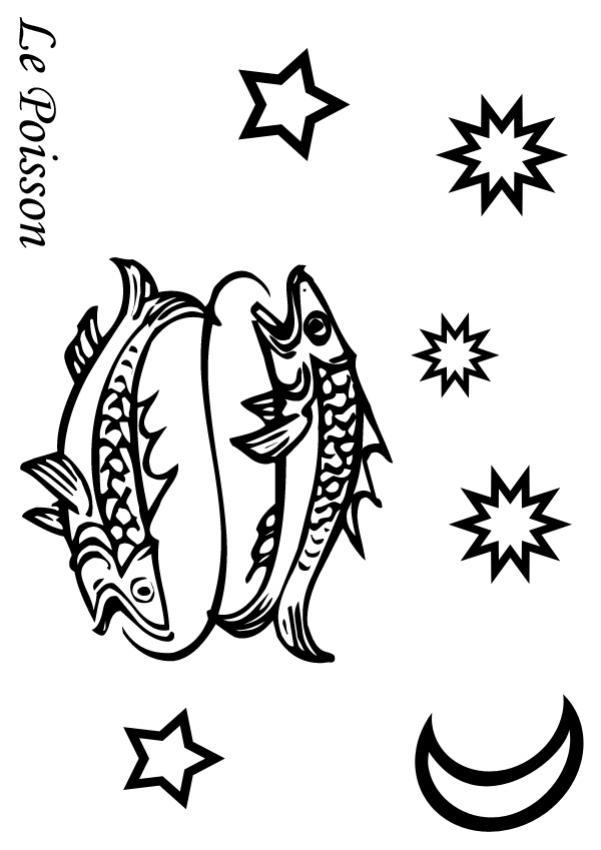 Poisson - Coloriage - Coloriage des Signes du Zodiaque