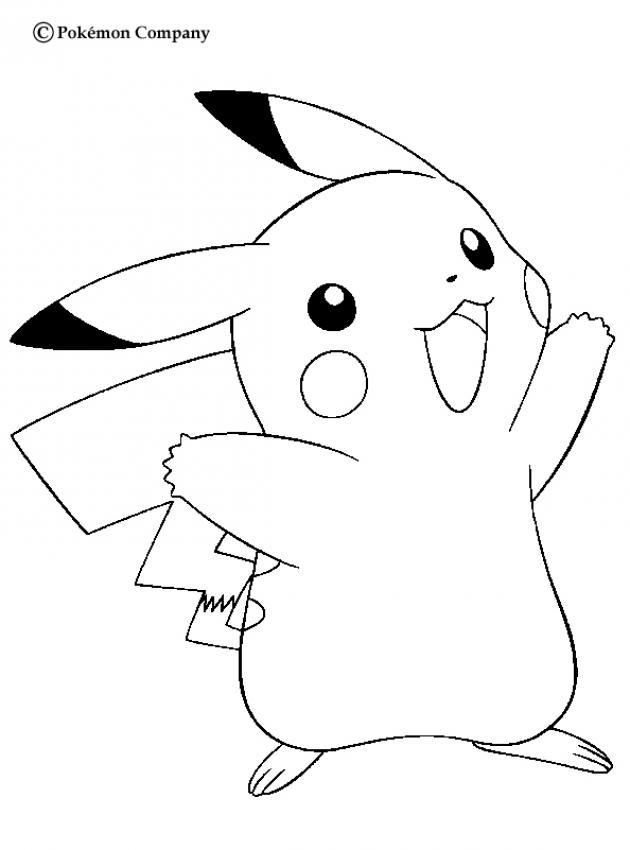 Coloriage de Pikachu