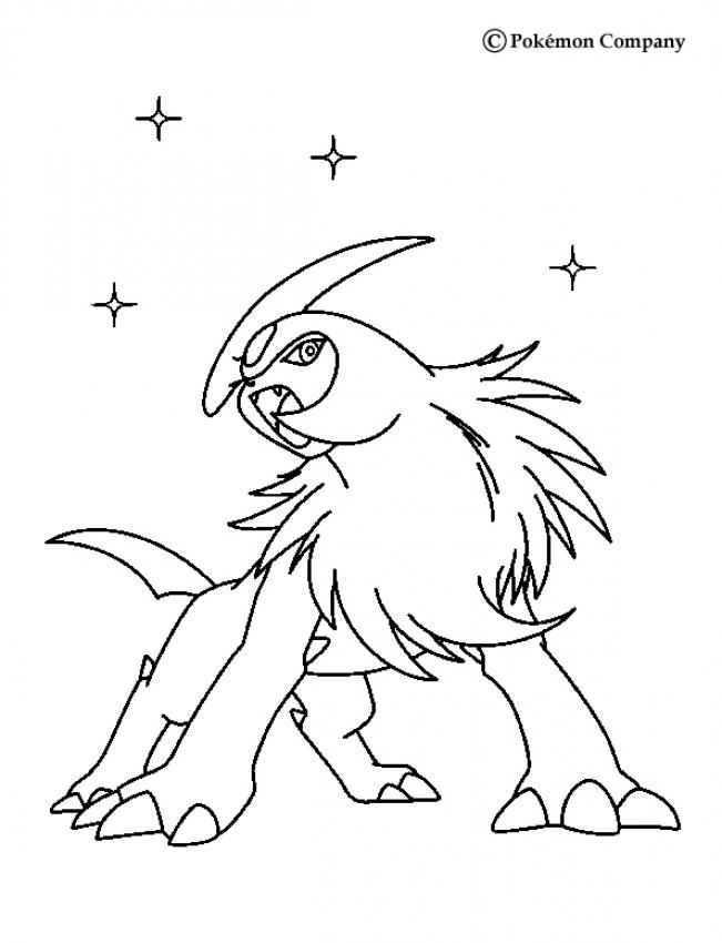 Coloriage : absol