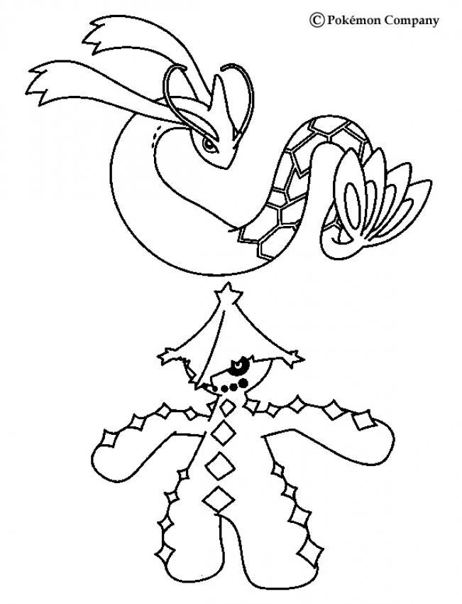 Coloriage : Milobellus et Cacturne
