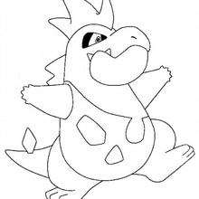 Crocrodil - Coloriage - Coloriage POKEMON