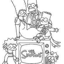 Coloriage d'un portrait de famille