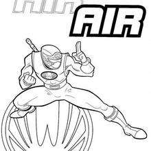 Coloriage Power Rangers : Ninja AIR