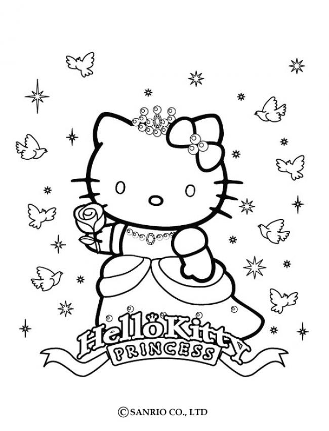 Coloriages coloriage de princesse kitty - Coloriage en ligne princesse ...