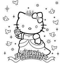 Coloriage de Princesse Kitty - Coloriage - Coloriage HELLO KITTY