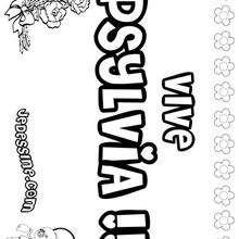 Psylvia - Coloriage - Coloriage PRENOMS - Coloriage PRENOMS LETTRE P