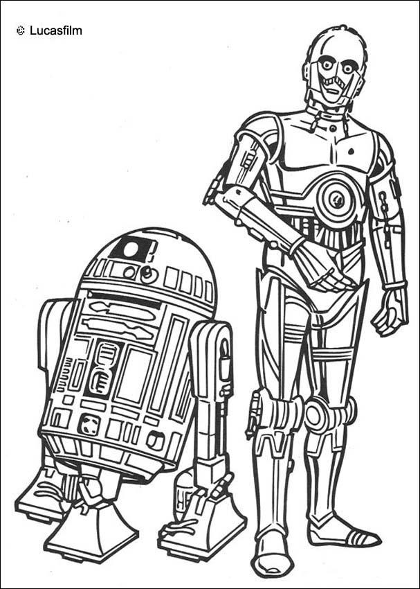 Coloriages coloriage star wars de r2d2 et c3po fr