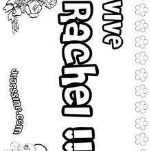 Rachel - Coloriage - Coloriage PRENOMS - Coloriage PRENOMS LETTRE R
