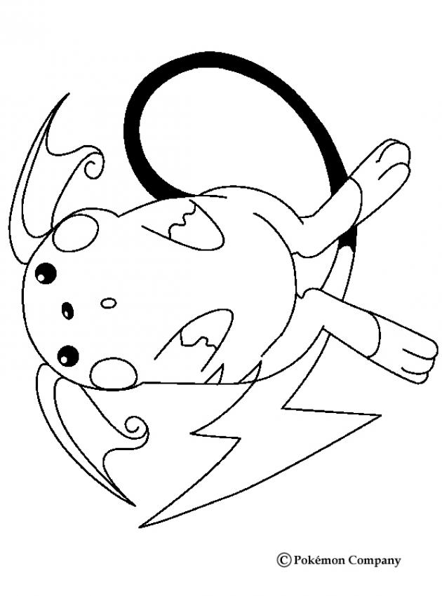 Raichu N�2 - Coloriage - Coloriages POKEMON