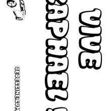 Raphael - Coloriage - Coloriage PRENOMS - Coloriage PRENOMS LETTRE R