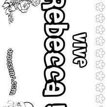 Rebecca - Coloriage - Coloriage PRENOMS - Coloriage PRENOMS LETTRE R
