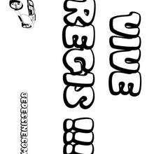 Regis - Coloriage - Coloriage PRENOMS - Coloriage PRENOMS LETTRE R