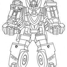 Coloriage du robot debout - Coloriage - Coloriage DESSINS ANIMES - Coloriage POWER RANGERS - Coloriage ROBOT POWER RANGERS