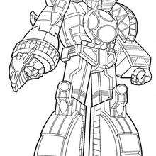 Coloriage Power Rangers : Le robot Géant