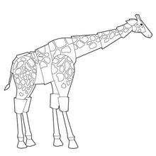 Coloriage d'un robot girafe - Coloriage - Coloriage A IMPRIMER - Coloriage FUTUROSCOPE
