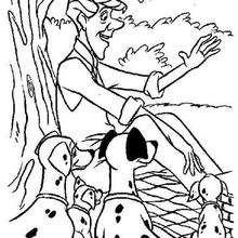 Coloriage Disney : Coloriage à imprimer 101 dalmatiens