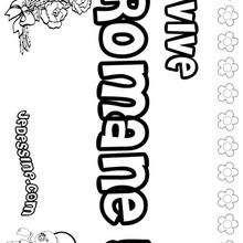 Romane - Coloriage - Coloriage PRENOMS - Coloriage PRENOMS LETTRE R