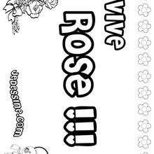 Rose - Coloriage - Coloriage PRENOMS - Coloriage PRENOMS LETTRE R
