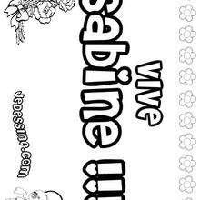 Sabine - Coloriage - Coloriage PRENOMS - Coloriage PRENOMS LETTRE S