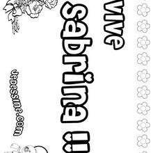 Sabrina - Coloriage - Coloriage PRENOMS - Coloriage PRENOMS LETTRE S