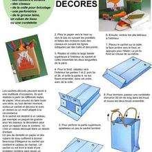 Sachets décorés - Activités - BRICOLAGE DECO - Pour emballer les cadeaux