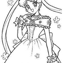 Coloriages coloriage de sailor moon en robe de mari e fr - Coloriage de mariee ...
