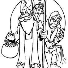 Coloriage De Saint Nicolas 8 Coloriages De Noel