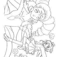 Coloriage de Sakura et la princesse - Coloriage - Coloriage MANGA - Coloriage de SAKURA