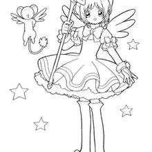 Coloriage de Sakura la princesse - Coloriage - Coloriage MANGA - Coloriage de SAKURA