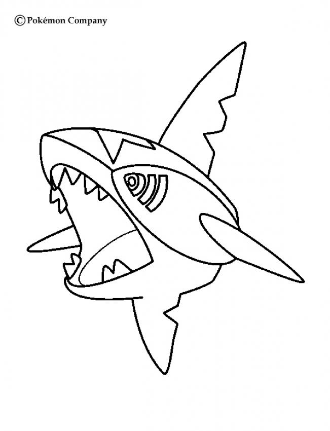 Samehader - Coloriage - Coloriages POKEMON