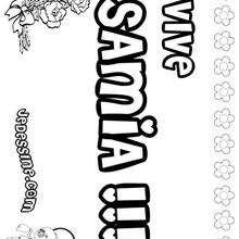 Samia - Coloriage - Coloriage PRENOMS - Coloriage PRENOMS LETTRE S
