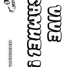 Samuel - Coloriage - Coloriage PRENOMS - Coloriage PRENOMS LETTRE S