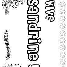 Sandrine - Coloriage - Coloriage PRENOMS - Coloriage PRENOMS LETTRE S