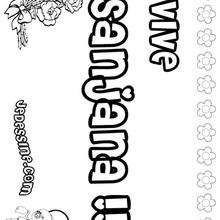 Sanjana - Coloriage - Coloriage PRENOMS - Coloriage PRENOMS LETTRE S